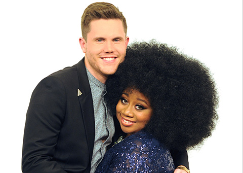 AMERICAN IDOL: Top 2 Revealed: L-R: Top 2 contestants Trent Harmon and La'Porsha Renae on AMERICAN IDOL airing Wednesday, April 6 (8:00-9:00 PM ET/PT) on FOX. © 2016 FOX Broadcasting Co. Cr: Michael Becker/ FOX. This image is embargoed until Wednesday, April 6, 10:00PM PT / 12:00AM ET