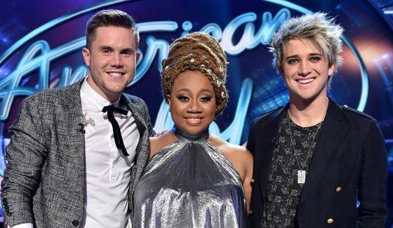 Top 3 on American Idol 2016