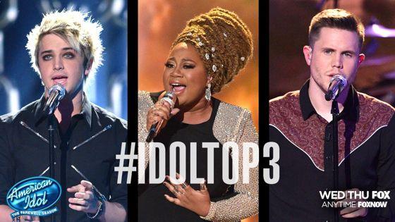 American Idol 2016's Top 3 contestants