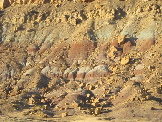 layers of colorful rock (author photo)