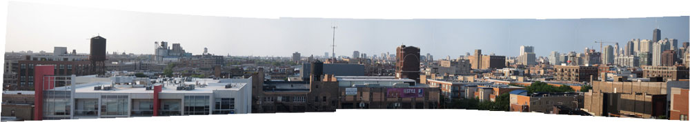 Panoramic view of Chicago's west side, July 2012 (Credit: Susan Barsy)