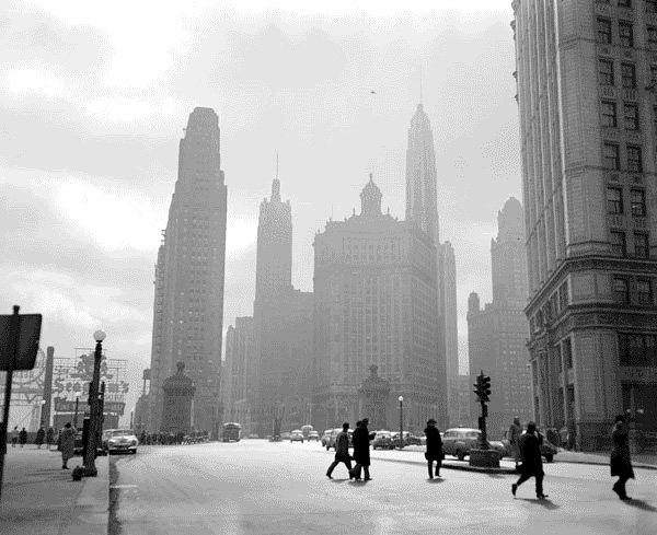 Michigan Avenue in 1951 (Courtesy of the National Archives via the Commons on Flickr)