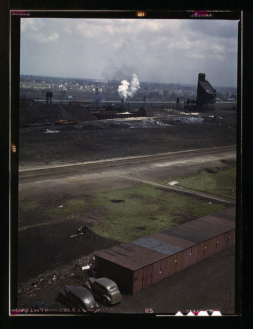 Victory gardener in a rail yard (Courtesy Library of Congress via The Commons on Flickr)