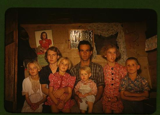 An FSA photograph by Russell Lee of a family in Pie Town, New Mexico.