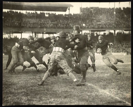 Football game (Courtesy of the Library of Congress)