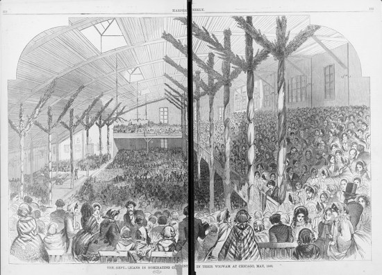 The Wigwam, GOP convention 1860 Chicago(Courtesy of Library of Congress)