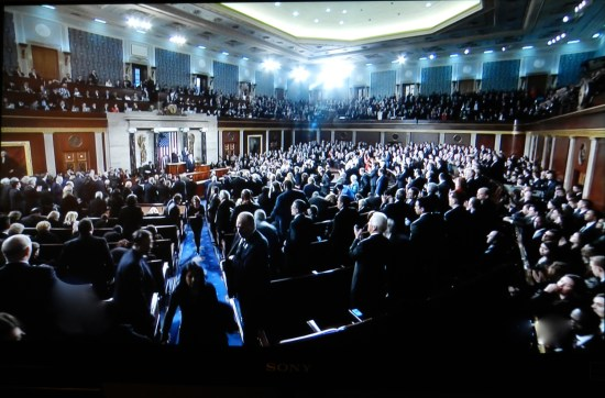 Both houses of Congress assembled for the State of the Union.