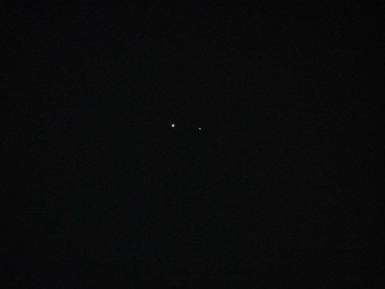 The two planets (Jupiter and Saturn)