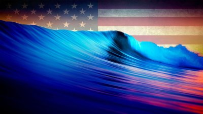 American-blue-waves