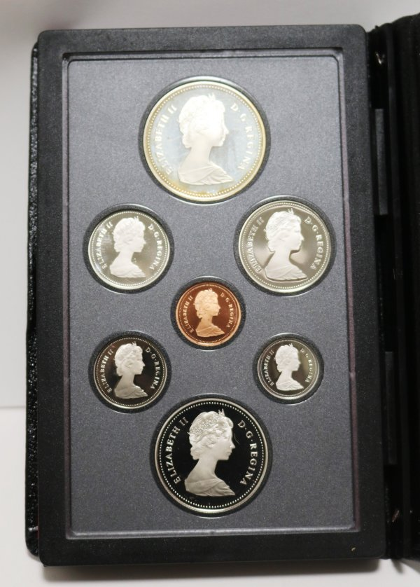 1984 Canadian coin set front