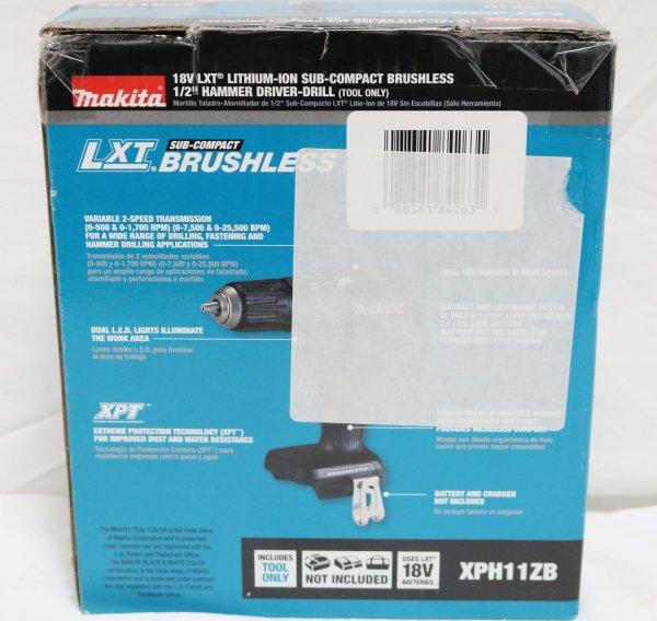 Makita XPH11ZB Hammer Drill back