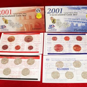 2001 Uncirculated Coin Set main pict