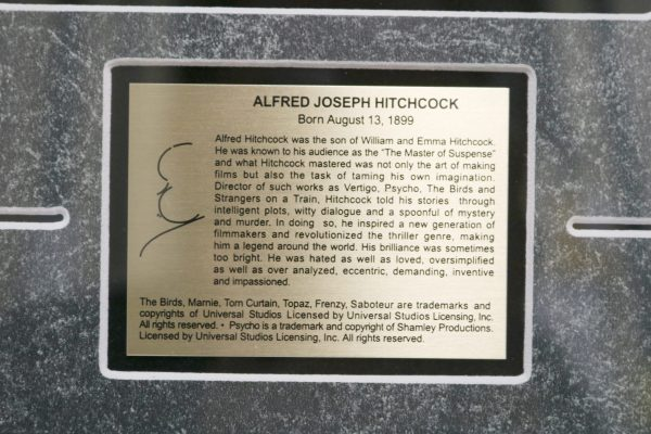 Alfred Hitchcock Pin Set plaque