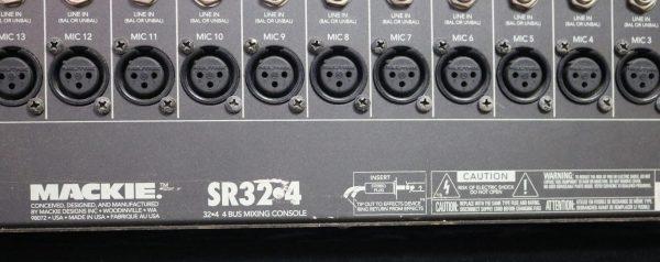 Mackie 32-4 Analog Mixer label
