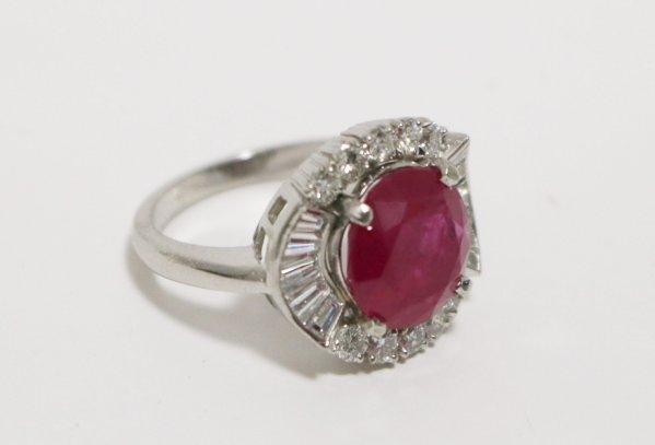 Ruby Diamond Ladies Ring main