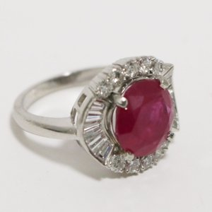 Ruby Diamond Ladies Ring main
