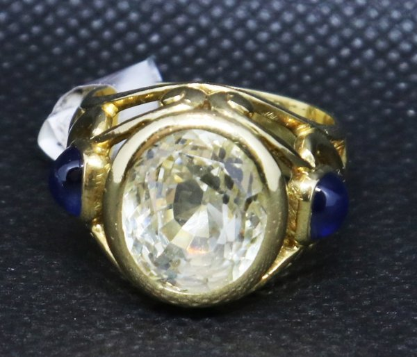 Clear Yellow Sapphire Ring top