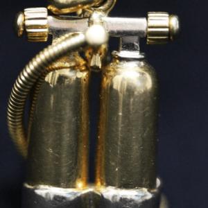 Gold Diver Tank Pendant main