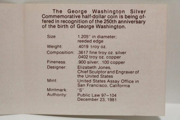 George Washington Half Dollar specs