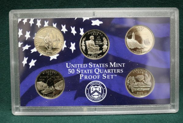 2003-S Proof Coin Set q rear