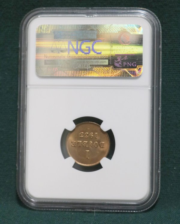 Guernsey 1933 Double Coin back