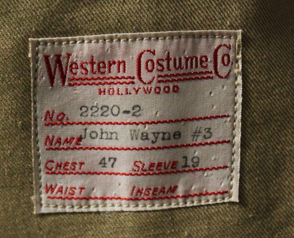 John Wayne Movie Costume tag