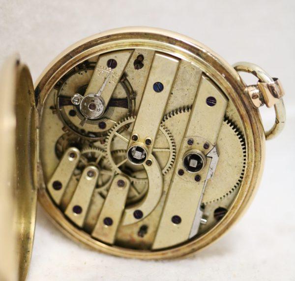 Swiss Gold Pocket Watch movement
