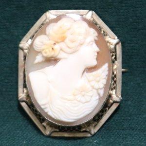 Cameo Brooch Necklace Pendant main