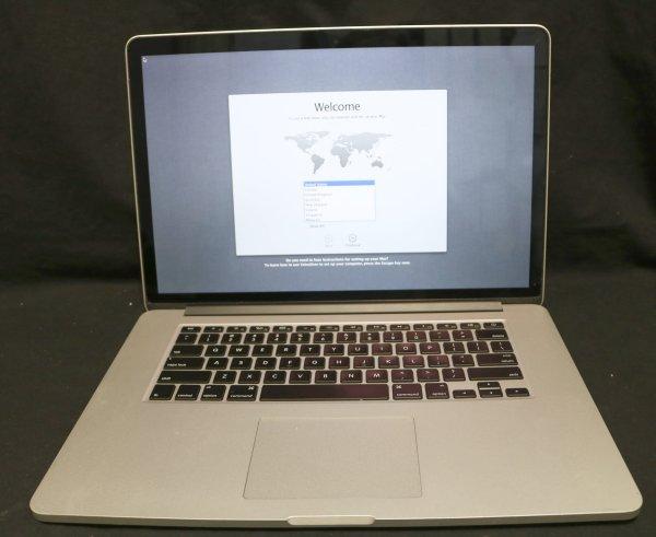 Apple Macbook Pro Computer open