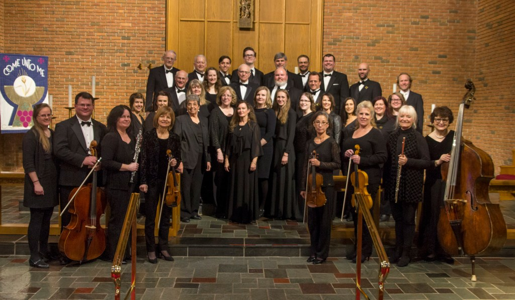 The American Kantorei chorus and orchestra