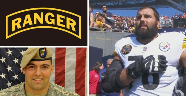 NFL player, Army Ranger veteran Alejandro Villanueva is only Steeler to be on field for US national anthem; rest stay in locker room (VIDEO) Featured