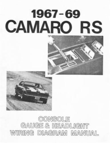 details about camaro 1967 1968  1969 wiring diagram including headlight   console