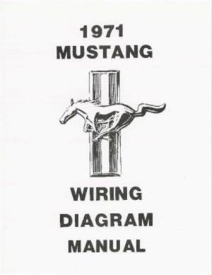 MUSTANG 1971 Wiring Diagram Manual 71   eBay