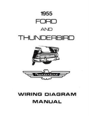 FORD 1955 Customline, Fairlaine & Thunderbird Wiring Diagram Manual | eBay