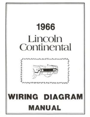 LINCOLN 1966 Continental Wiring Diagram Manual 66 | eBay