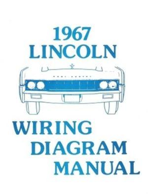 LINCOLN 1967 Continental Wiring Diagram Manual 67