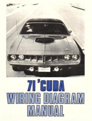 PLYMOUTH 1971 Barracuda Wiring Diagram Manual 71 | eBay