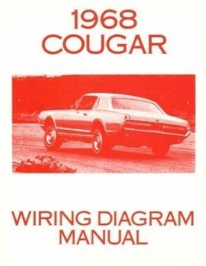 COUGAR 1968 Wiring Diagram Manual 68