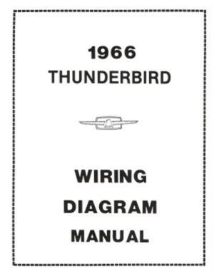 FORD 1966 Thunderbird Wiring Diagram Manual 66 | eBay