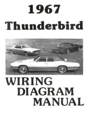 FORD 1967 Thunderbird Wiring Diagram Manual 67   eBay