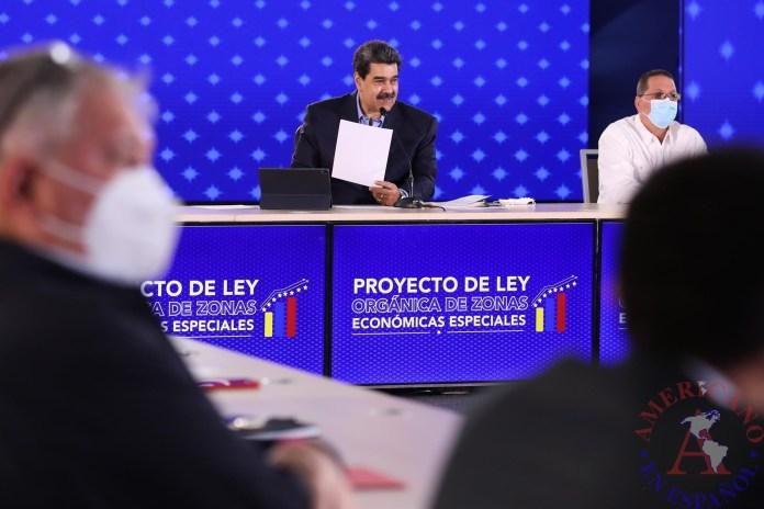 presidente venezolano, Nicolás Maduro, durante un acto de Gobierno en Caracas