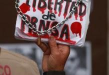 protesta de periodistas en la Ciudad de México