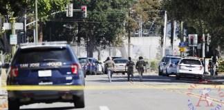La Policía hace presencia en la Autoridad de Transporte del Valle de San José en San José, California, Estados Unidos
