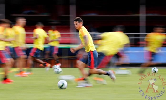 El jugador de la selección Colombia James Rodríguez