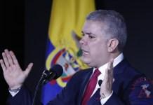 En la imagen, el presidente de Colombia, Iván Duque
