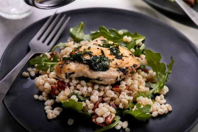 Herbed Chicken Breast With Barley And Pecans Recipe - American Pecan Council