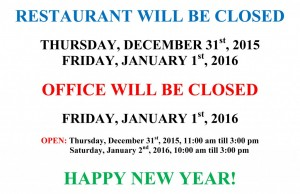 New Years Eve Closing