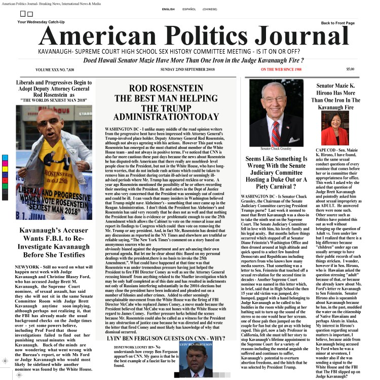 American Politics Journal - Breaking News, International & Media 9 23 2018