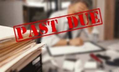Past due invoices from slow-paying clients