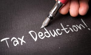 Tax Deduction writing